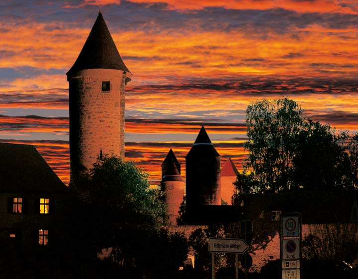 Dinkelsbuehl-Sonnenuntergang